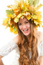 Beautiful fall woman Royalty Free Stock Image