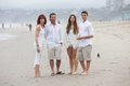 Beautiful Family on the Beach Royalty Free Stock Photography