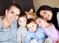 Beautiful family portrait Stock Photography