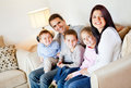 Beautiful family smiling Royalty Free Stock Photography