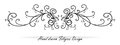 Beautiful fancy scroll design, paragraph or text underline, wedding design element Royalty Free Stock Photo