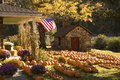 Beautiful farmhouse in Autumn Royalty Free Stock Photo
