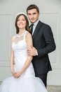 Beautiful fashion bridal couple Royalty Free Stock Photo