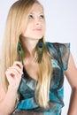 Beautiful fashion model Stock Photography