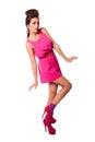 Beautiful fashion woman in pink Royalty Free Stock Photo