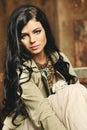 Beautiful fashion woman vogue and art Stock Photography