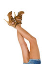 Beautiful femail legs Royalty Free Stock Photography