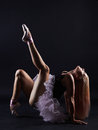Beautiful female ballet dancer. Ballerina girl Royalty Free Stock Photo