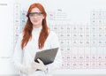 Beautiful female chemist Royalty Free Stock Photo