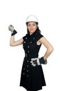 Beautiful Female Construction Worker (4) Royalty Free Stock Photography