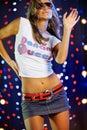 Beautiful female dancing Stock Images