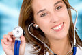 Beautiful female doctor Royalty Free Stock Images