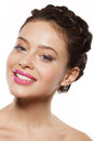 Beautiful female face Royalty Free Stock Image