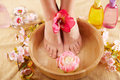 Beautiful female feet Stock Photography