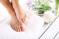 Beautiful female feet, smooth and neat Royalty Free Stock Photo