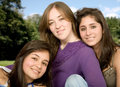 Beautiful female friends Royalty Free Stock Photos