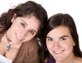 Beautiful female friends smiling Royalty Free Stock Images