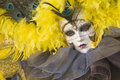 Beautiful female mask at carnival in Venice Stock Image