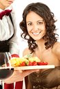 Beautiful female restaurant Royalty Free Stock Photos