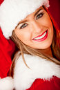 Beautiful female Santa Stock Image