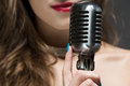 Beautiful female singer Royalty Free Stock Photo