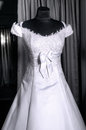 Beautiful female weddings dress mannequin Stock Image