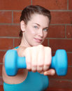 Beautiful Female Working Out With Weights Royalty Free Stock Photos