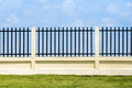 Beautiful of fence factory in industrial estate,green field and