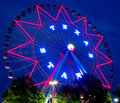 Beautiful Ferris wheel  night scenes Royalty Free Stock Photo