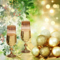 Beautiful festive background Christmas and New year.