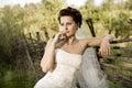Beautiful fiancee Stock Photography