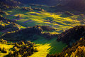 Beautiful fields in the hills pieniny slovakia Royalty Free Stock Images