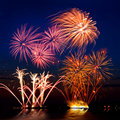Beautiful Firework Royalty Free Stock Photography