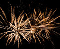 Beautiful fireworks at international competition in montreal Royalty Free Stock Images