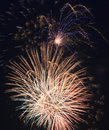 Beautiful fireworks in the night sky Stock Photos