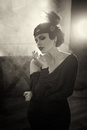 Beautiful Flapper girl Royalty Free Stock Photo