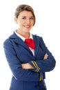 Beautiful flight attendant Royalty Free Stock Photos