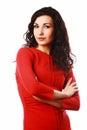 Beautiful flirty brunet woman Royalty Free Stock Photo
