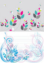 Beautiful floral abstract background in soft blue Stock Images