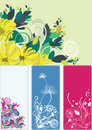 Beautiful floral abstract background in soft green Royalty Free Stock Images