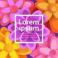 Beautiful Floral Background Spring Graphic Design With Colorful Flowers Banner With Copy Space Royalty Free Stock Photo
