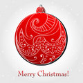 Beautiful floral Christmas ornament Stock Images