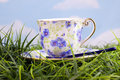 Beautiful floral patterned cup Stock Photography