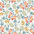 Beautiful floral seamless pattern design Royalty Free Stock Photo