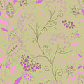 Beautiful floral seamless pattern great for cards invitations backgrounds wallpaper web page background surface textures Stock Photos