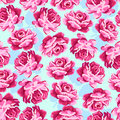 Beautiful floral seamless pattern vintage rose shabby chic style background Royalty Free Stock Photo