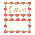 Beautiful floral vector love card Royalty Free Stock Photo