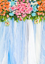 Beautiful flower decoration background in wedding Royalty Free Stock Images