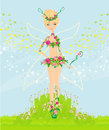 Beautiful flower fairy Royalty Free Stock Photo
