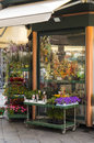 Beautiful flower stand in Genoa, Italy Royalty Free Stock Photo